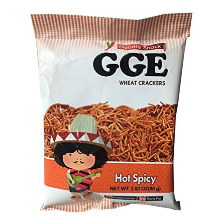 GGE Noodle Snack 2.82 oz per Pack (2 Pack) (Hot Spicy) - Halloween Snacks Hot Dogs