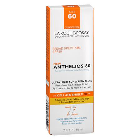 La Roche-Posay Anthelios 60 Ultra Light Sunscreen Fluid Extreme, SPF 60 1.7 fl oz(pack of