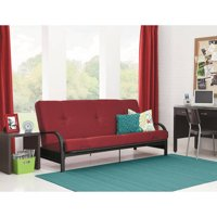 Mainstays Black Metal Arm Futon with Full Size Mattress (Multiple Colors)