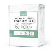 eLuxurySupply - 360 Removable Top Mattress Encasement - Waterproof - 10 Year Warranty - Bed Bug Protector