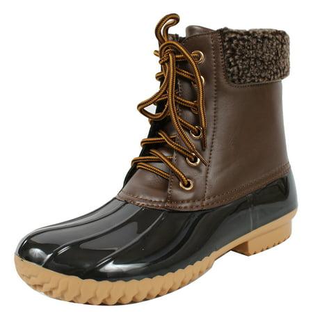 Plus Size Boot Cuffs (Nature Breeze Women's Faux Leather Faux Fur Cuff Duck)