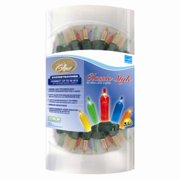Set of 50 Multi-Color Warm Glow LED Mini Christmas Lights - Green Wire