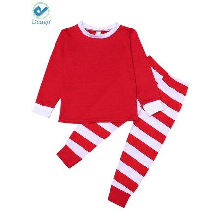 3f1474bbd Deago - Deago Matching Family Christmas Pajamas Set Striped ...