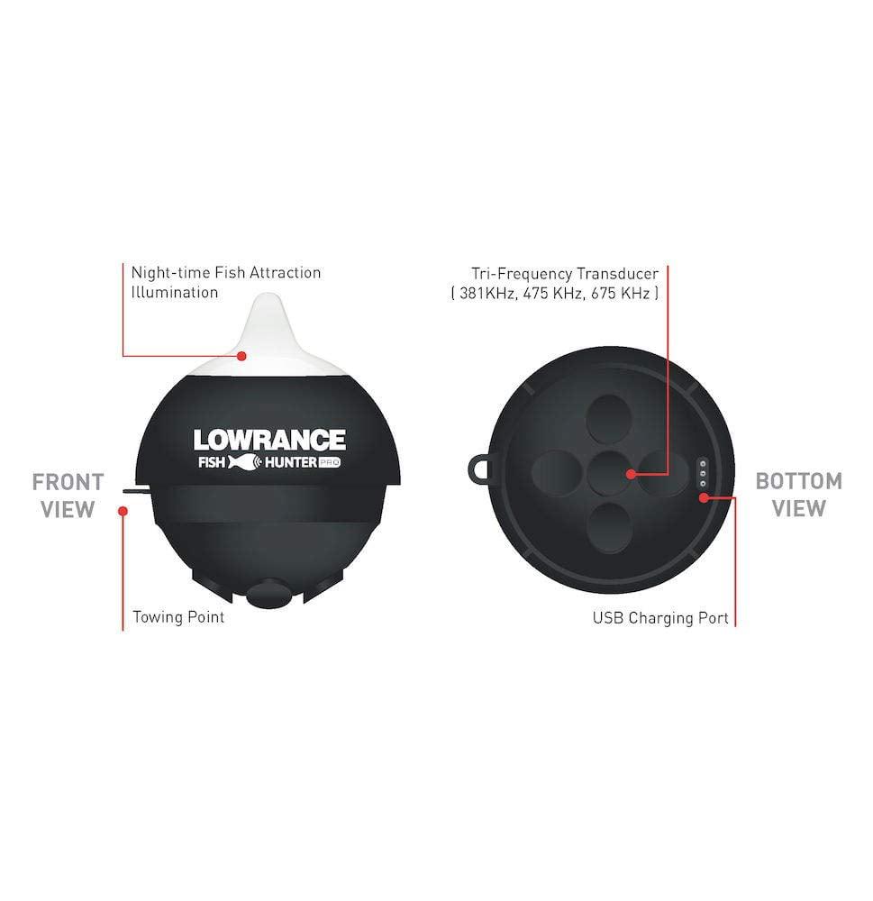 Lowrance Fish Hunter Pro Fish Finder NEW Fishing Wireless Castable Fishfinder