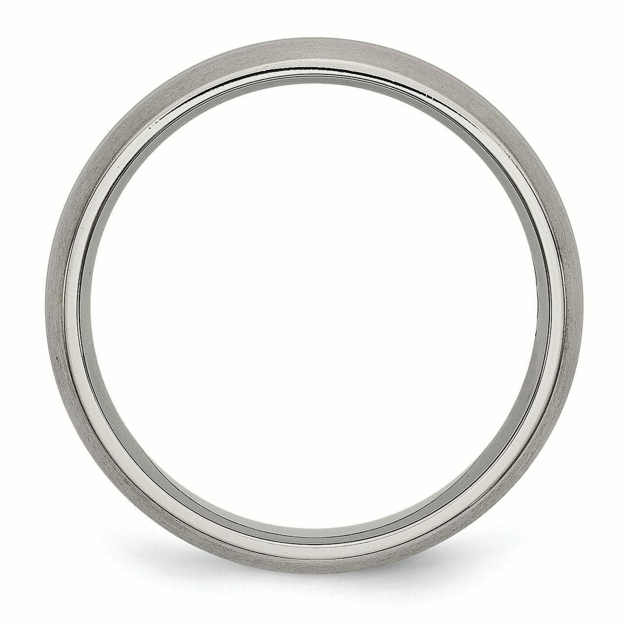 Titanium Grooved 6mm Brushed and Polished Band Size 7.5 - image 2 de 3