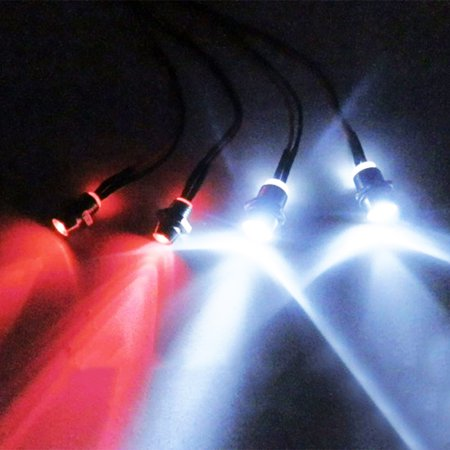 4pcs LED Light Set Headlight Taillight for Rc Car Truck Tank HSP Tamiya D3 - image 1 of 6
