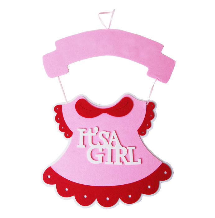 "18"" Baby Shower Hanging Decorations Garlands Its A Boy It's A Girl Decoration (Pink)"