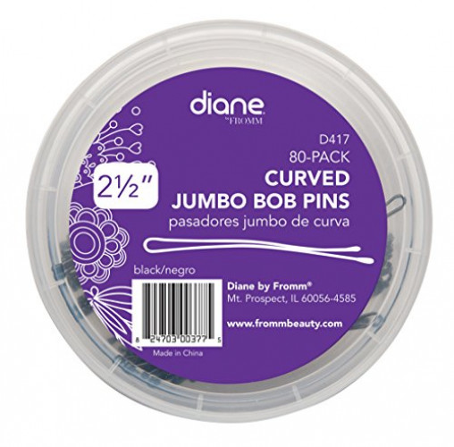 LONEEDY Pack of 10 Curved Jumbo Bobby Pins,Hair Clips