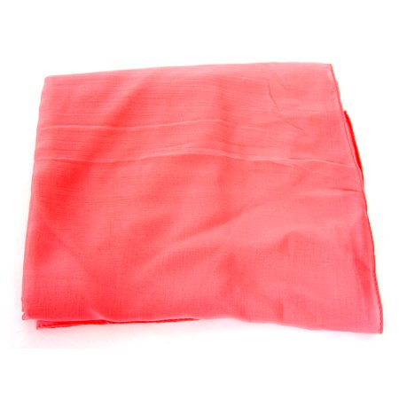 Women's Pink Colored Plain Polyester Scarf Scarf Wrap 60x27 inches