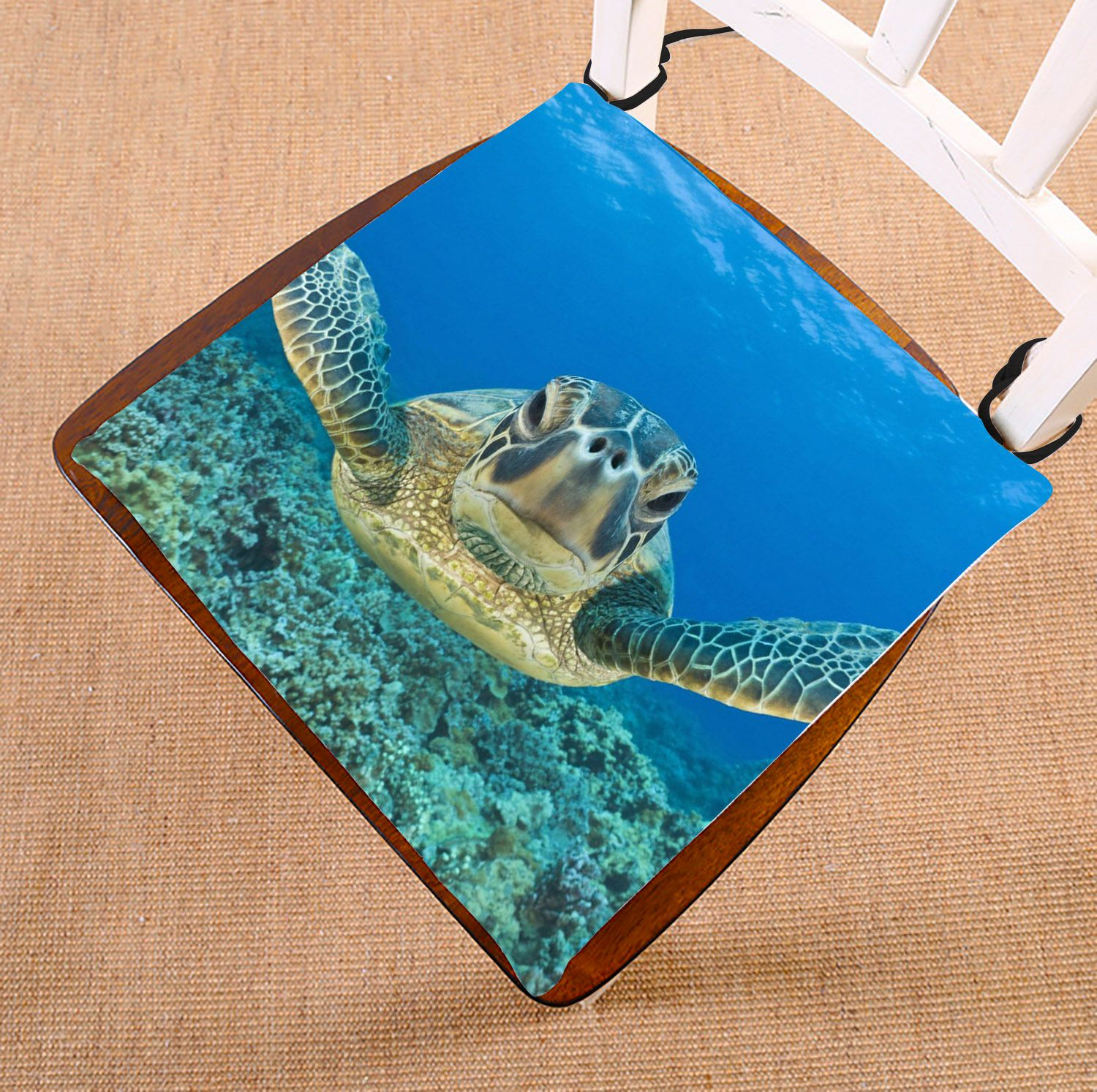 ZKGK Sea Turtle Painting Seat Pad Seat Cushion Chair Cushion Floor Cushion Two Sides 16x16 Inches