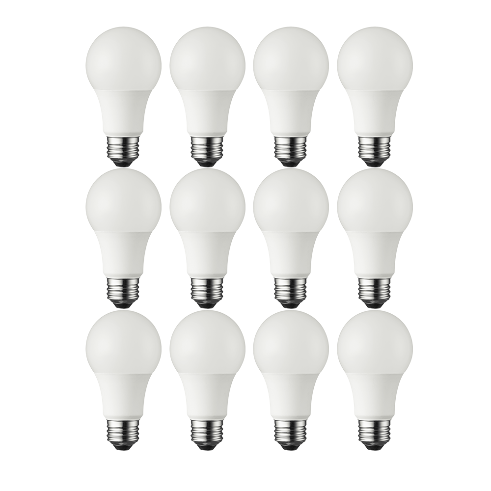 Great Value LED Light Bulbs, 9.5W (60W Equivalent),A19, Soft White, Shatter Resistant, 12-Pack