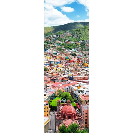 ¡Viva Mexico! Panoramic Collection - Guanajuato Colorful Cityscape VI Print Wall Art By Philippe Hugonnard