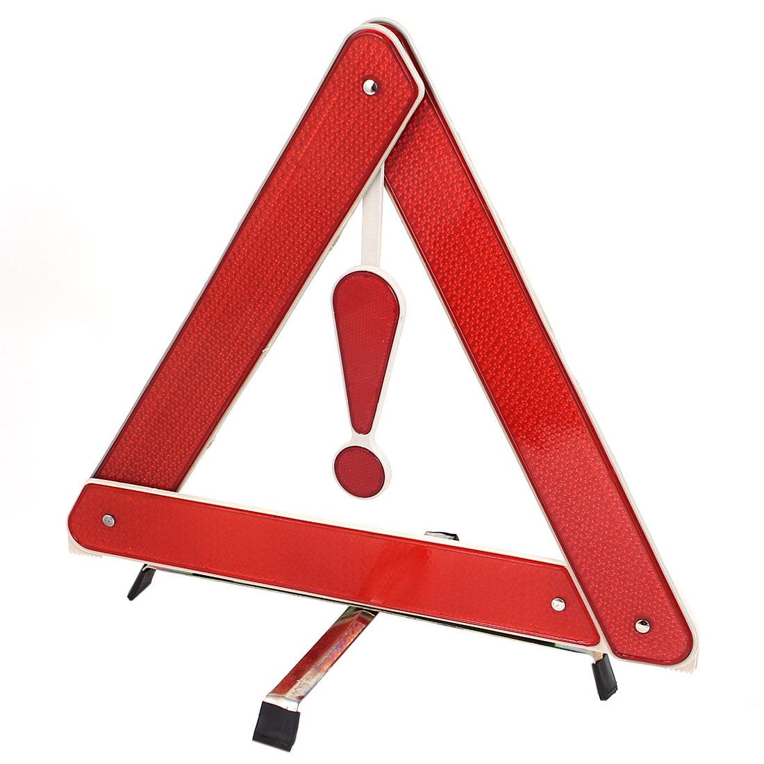 Red Plastic Folding Emergency Warning Reflecting Trigonal Baffle Board w Stand