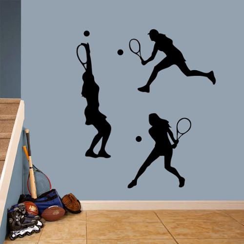 Sweetums Tennis Girls Large Wall Decal Set