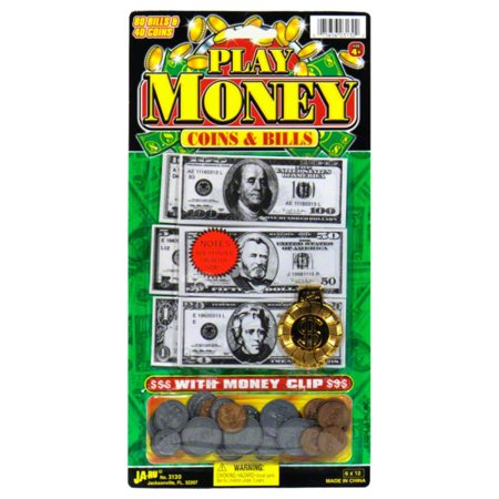 Ja-Ru Play Money - Coins and Bills - Play Money 100 Dollar Bills