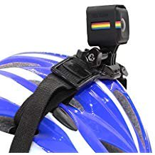 Helmet Cube (TELESIN New Helmet Belt Strap Mount with Camera Frame Housing Case for Polaroid Cube and Cube Plus Action)