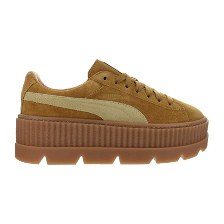 new product 5f9ee 27b7c Womens Puma x Fenty By Rihanna Suede Cleated Creeper Golden Brown 3662
