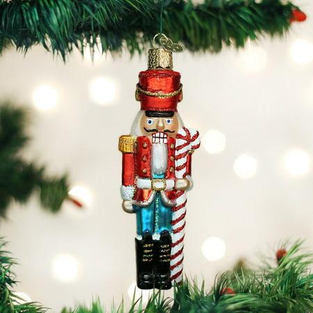 Old World Christmas Peppermint Nutcracker Glass Tree Ornament 44082 FREE BOX New (Nutcracker Christmas Tree Ornaments)