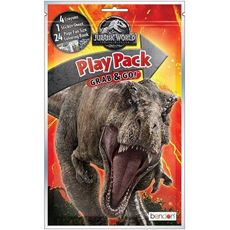 Jurassic World Grab and Go Play Pack Party Favors - - Play Pack Grab And Go