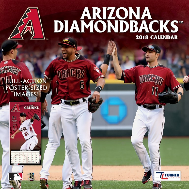TURNER SPORTS ARIZONA DIAMONDBACKS 2018 12X12 TEAM WALL CALENDAR