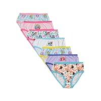 Disney Princess Girls Underwear, 7 Pack Panties, Sizes 4 - 8