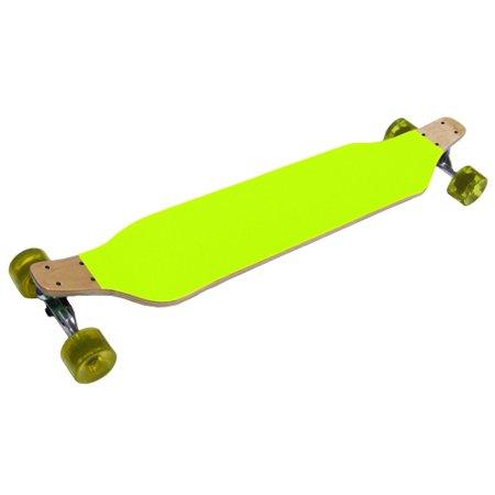 DROP DOWN LONGBOARD Lowrider Skateboard YELLOW with 70mm 80A Wheels ()