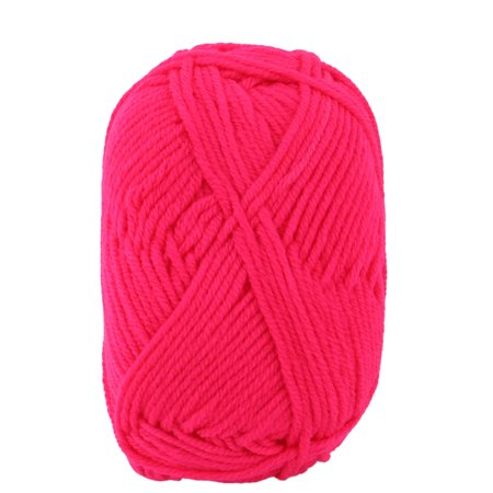 Fuchsia Crochet - Household Fiber Handmade Crochet Gloves Sweater Knitting Yarn Cord Fuchsia 25g