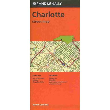 Rand Mcnally Charlotte Street Map  North Carolina