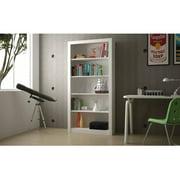 Mendocino Evergreen Classic Wide Bookcase 1.0, White