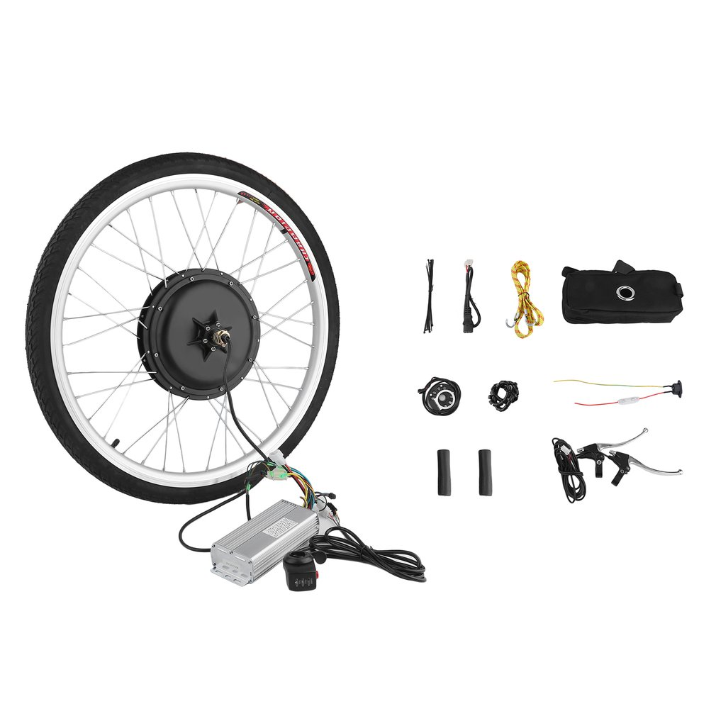 36V 500W Powerful 26 Inch E-Bike Motor Conversion Rear Wheel Cycling Hub Kit