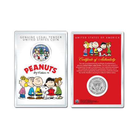 Peanuts Christmas Tree Carolers Official Jfk Half Dollar Coin In Premium Holder