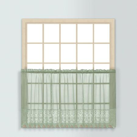 Valerie Sage Macrame  Kitchen Curtain 36   Tier