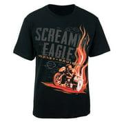 Screamin' Eagle Men's Trailing Flame Black T-Shirt HARLMT0202
