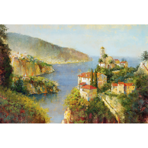 "Vision of Almafi 24"" x 36"" Canvas Wall Decor"
