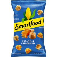 Smartfood Caramel & Cheddar Mix Flavored Popcorn, 7 oz Bag