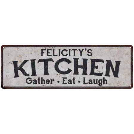 - FELICITY's Kitchen Personalized Rustic Chic Decor Gift 8x24 Sign 108240051911