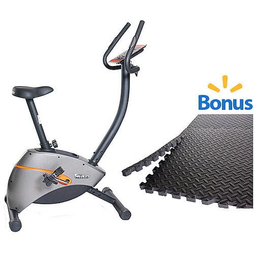 Velocity Exercise CHB-UNITRO Magnetic Upright Bicycle with Bonus Puzzle Mat
