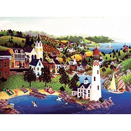 Robert LoGrippo Lighthouse Beach Jigsaw Puzzle 1000pc By ...
