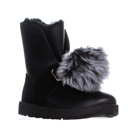 273c2292035 UGG - Womens UGG Isley Waterproof Winter Boots, Black - Walmart.com