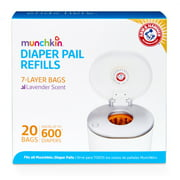 Munchkin Arm And Hammer Diaper Pail Refill Bags - 20 Ea