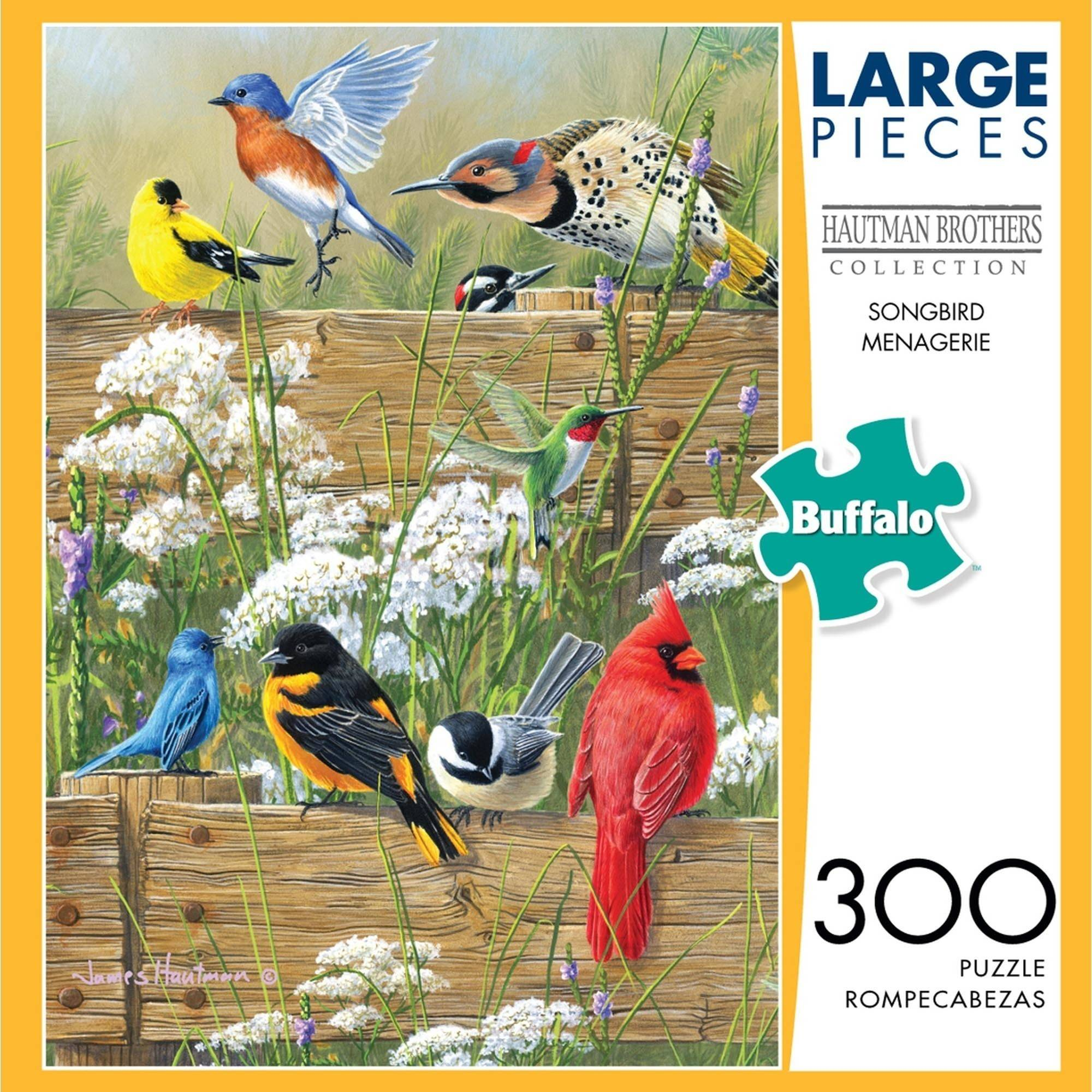 Buffalo Games Songbird Menagerie 300 Large Piece Jigsaw Puzzle by Buffalo Games, LLC