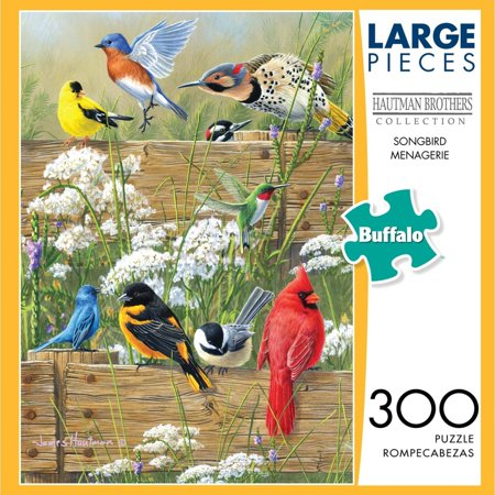 Buffalo Games Songbird Menagerie 300 Large Piece Jigsaw Puzzle (Crazy Jigsaw Puzzles)