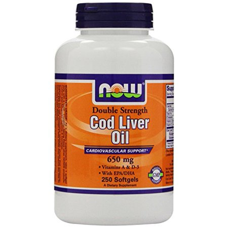 Now foods cod liver oil 650mg 250 sgels pack of 2 for Cod fish walmart
