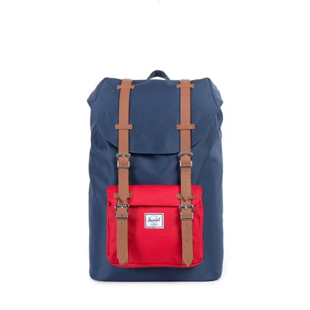 Little America Mid Volume Backpack Navy/Red/Tan Synthetic Leather One Size