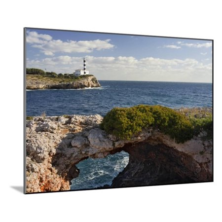 East Coast Lighthouses - Spain, Majorca, East Coast, Lighthouse of Portocolom, Punta De S'Homonet Wood Mounted Print Wall Art By Rainer Mirau