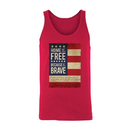 b0e282ca326a5 Zexpa Apparel - Home of the Free American Flag Men s Tank Top 4th of ...
