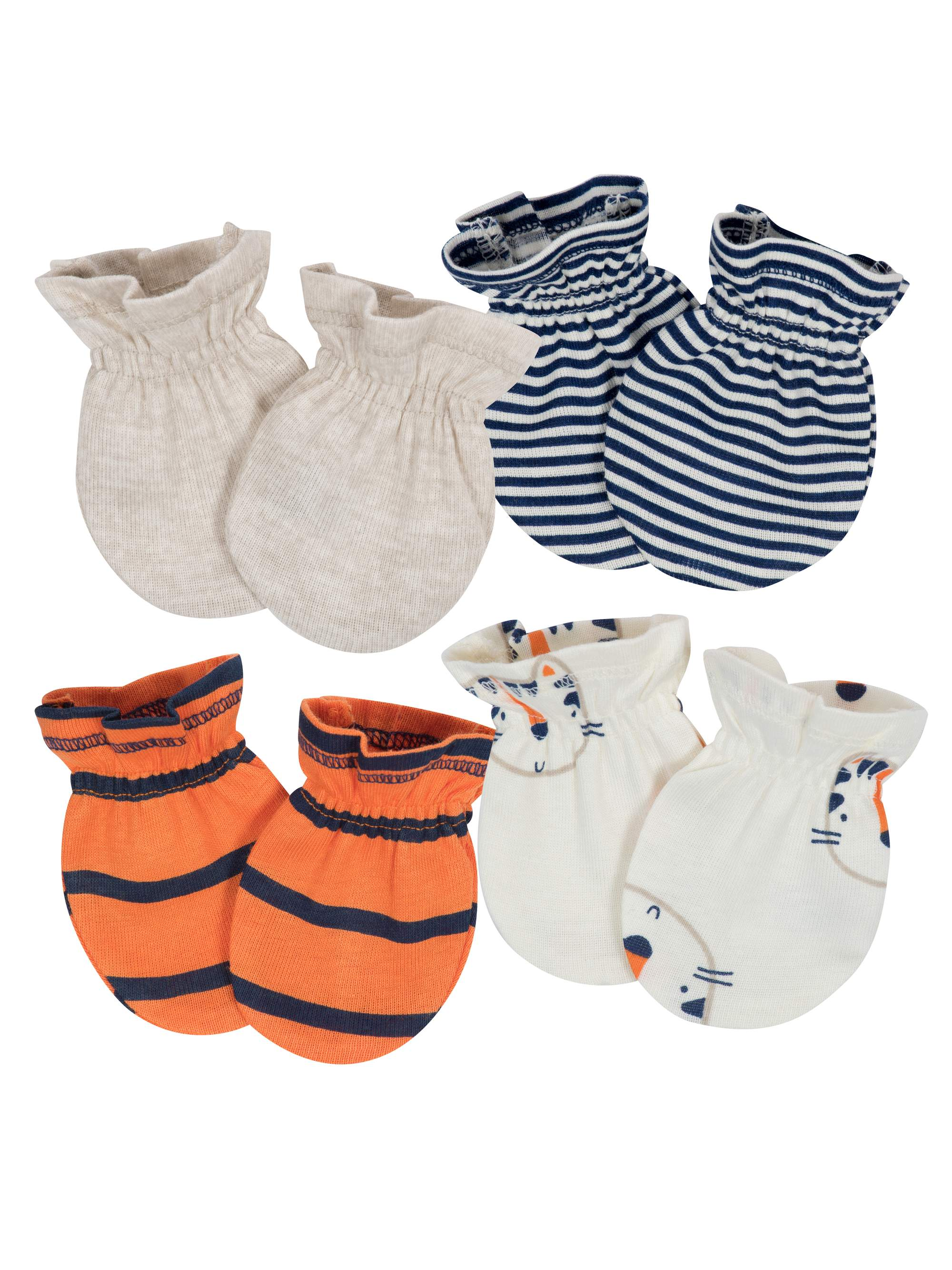 Assorted Mitten Set, 4pk (Baby Boy)