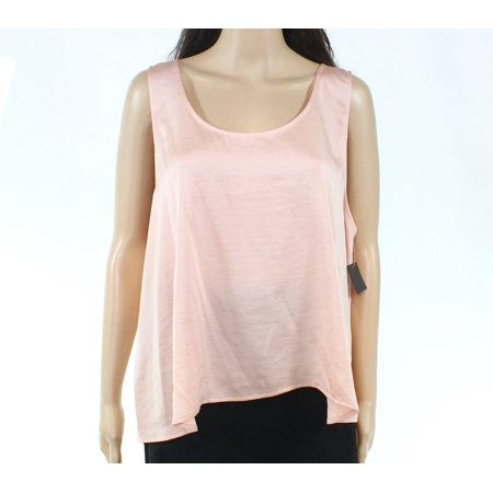 Charmeuse Tank - Womens Rose Scoop Neck Charmeuse Solid Tank Top XL