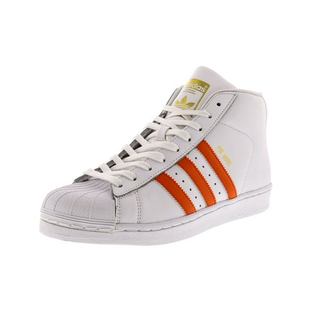 Adidas Men's Pro Model Footwear White / Energy Orange Gold Metallic Mid-Top  Leather Fashion Sneaker - 7M - Walmart.com