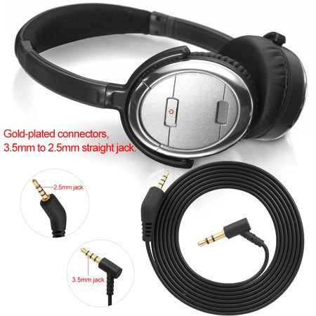 3 5mm to 2 5mm Audio Cable for BOSE QC3 with Mic Volume Control  Line-control Headphones Cord Line